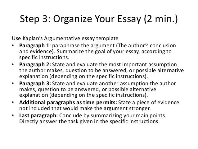 parts of an argumentative essay
