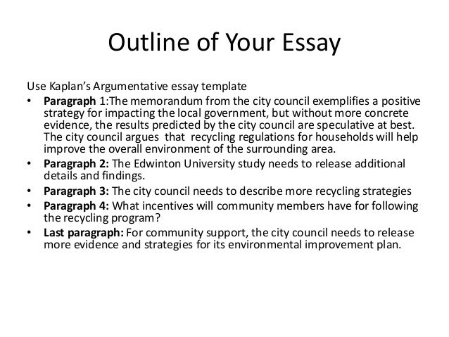 Argumentative essay paper outline