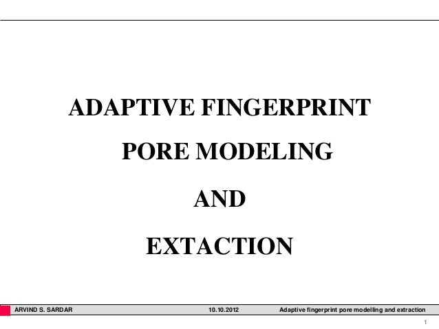 finger print pore extraction methods