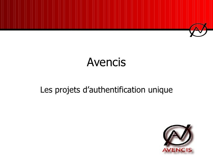 Les projets d'authentification unique Avencis