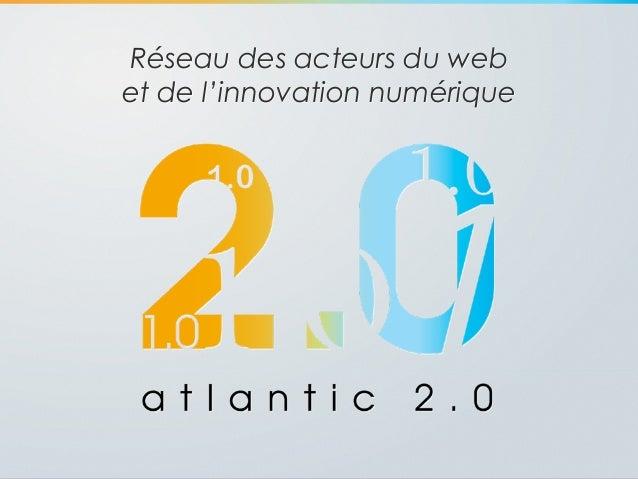 Réseau des acteurs du web et de l'innovation numérique ''