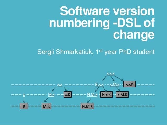 Software version numbering - DSL of change