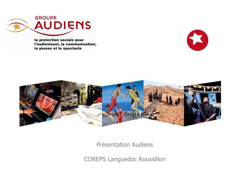 Présentation AudiensCOREPS Languedoc Roussillon                              1