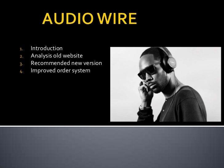 Presentation audiowire