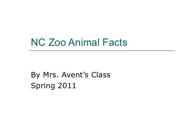 NC Zoo Animal Facts By Mrs. Avent's Class Spring 2011