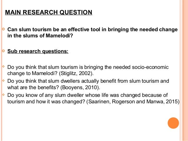Tourism research proposal