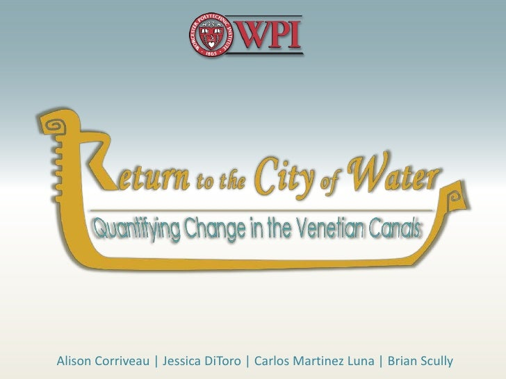 Return to the City of Water: Quantifying Change in the Venetian Canals