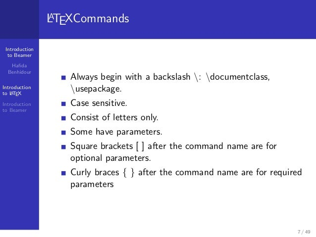 how to add introduction in latex