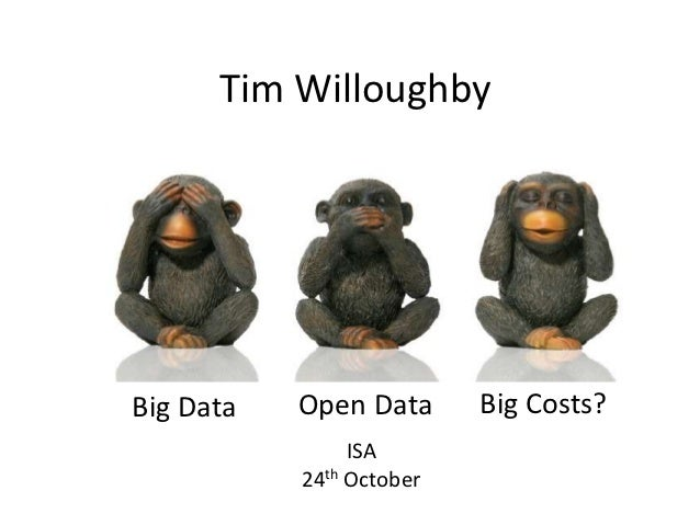 Tim WilloughbyBig Data   Open Data      Big Costs?                ISA           24th October