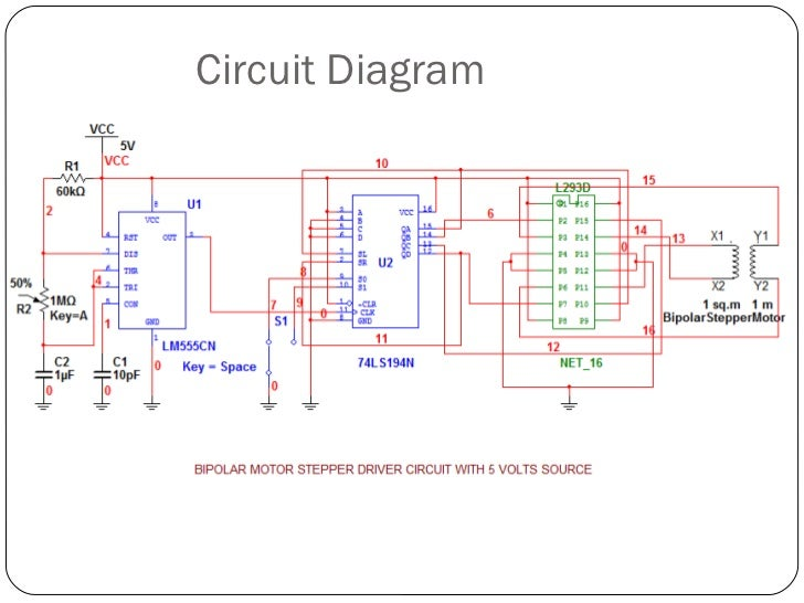 Bipolar stepper motor driver circuit h bridge for Bipolar stepper motor driver circuit