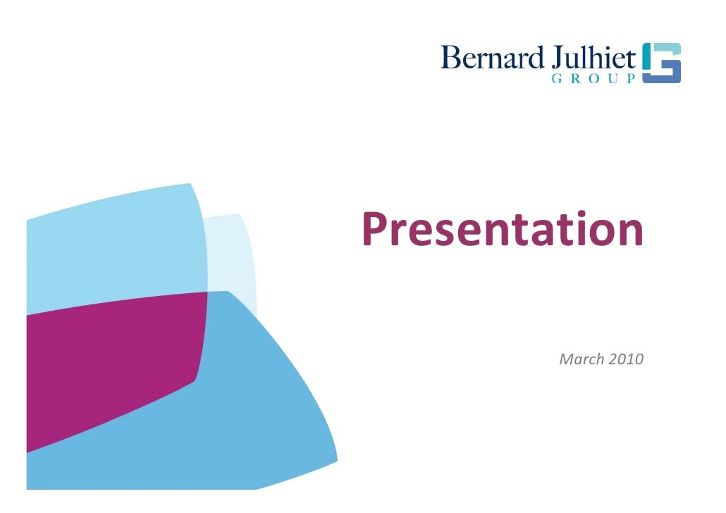 Bernard Julhiet Group (english)