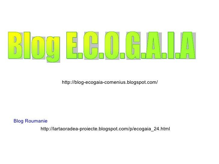 http://blog-ecogaia-comenius.blogspot.com/ http://lartaoradea-proiecte.blogspot.com/p/ecogaia_24.html Blog Roumanie