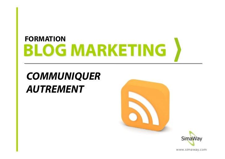 Formation blog marketing