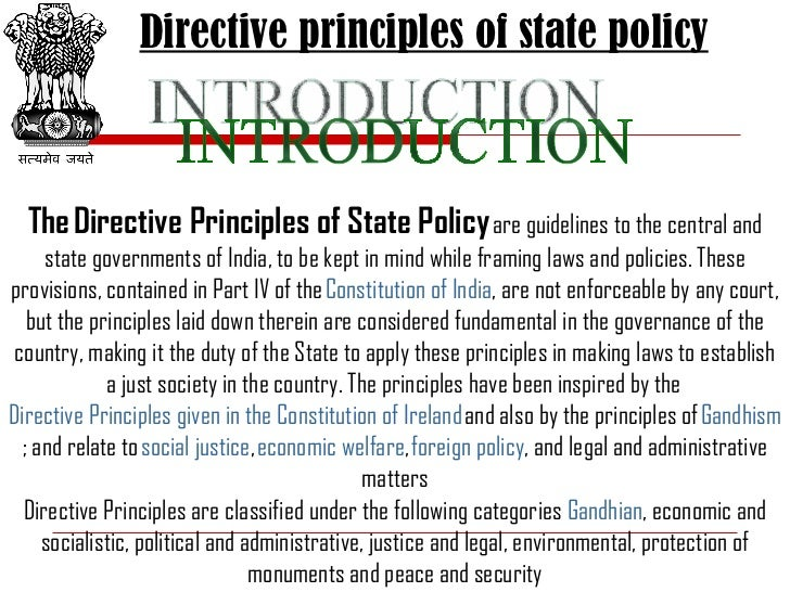 directive principles of state policy essays