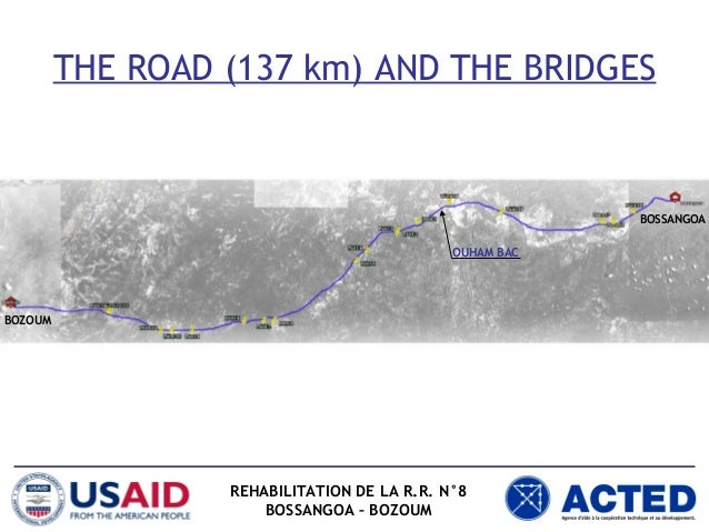 Assessment and reinforcement of the 20 existing bridges in the Bozoum-Bossangoa road in Central African Republic. Presentation to the Ministry of Works.