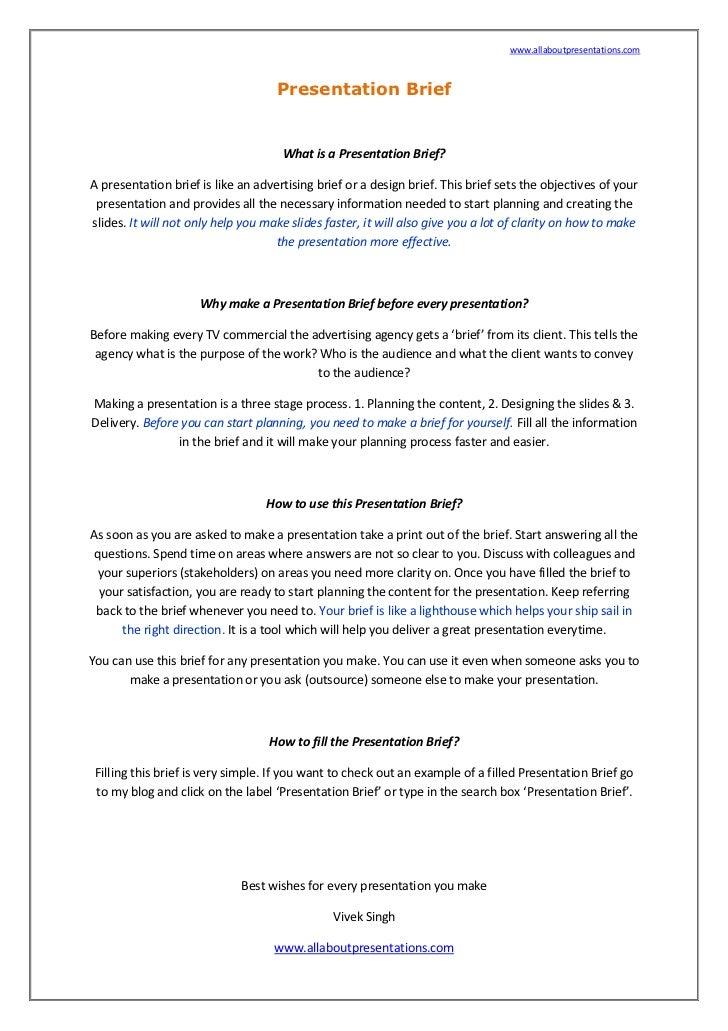 www.allaboutpresentations.com                                        Presentation Brief                                   ...