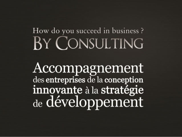 Présentation BY CONSULTING