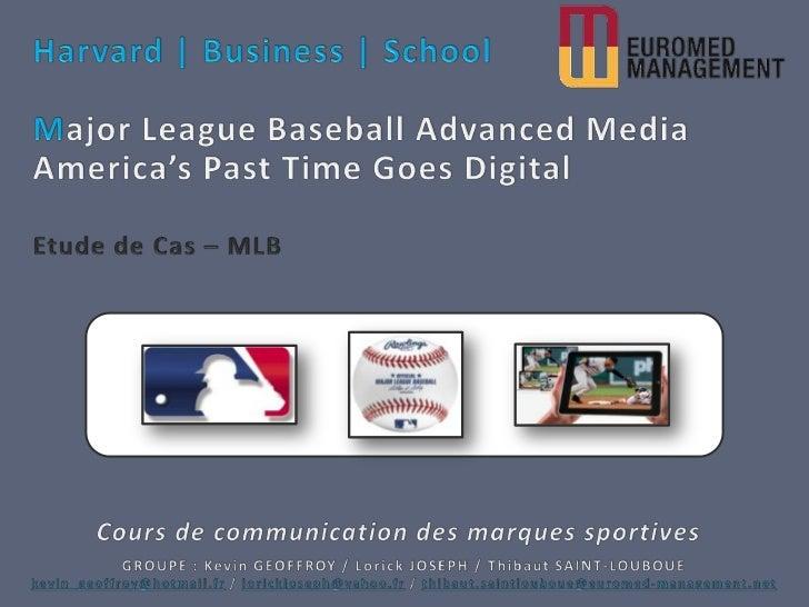 Major League Baseball Advanced Media : America's Pastime Goes Digital