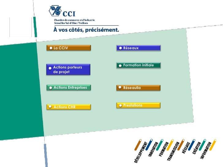 La CCIV               Réseaux                      Formation initialeActions porteursde projetActions Entreprises   Réseau...