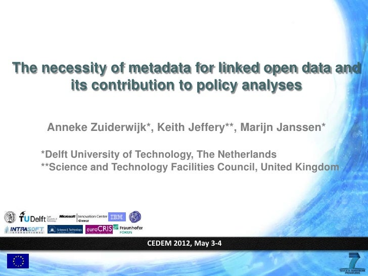 The necessity of metadata for linked open data and its contribution to policy analyses #CeDEM12