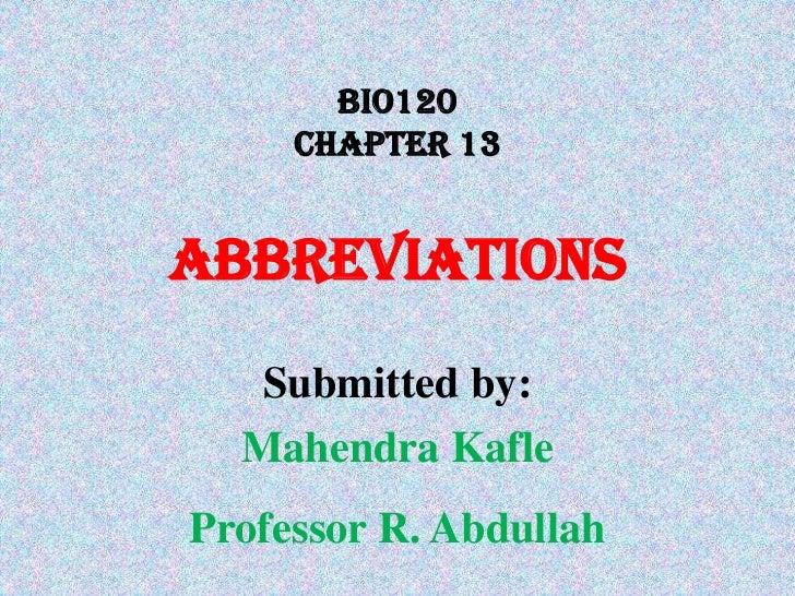 Presentation chapter 13 bio120