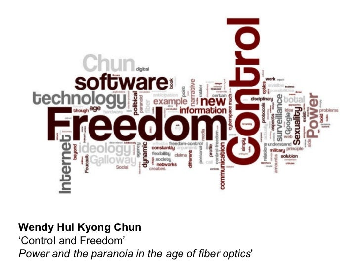 Wendy Hui Kyong Chun ' Control and Freedom'   Power and the paranoia in the age of fiber optics '