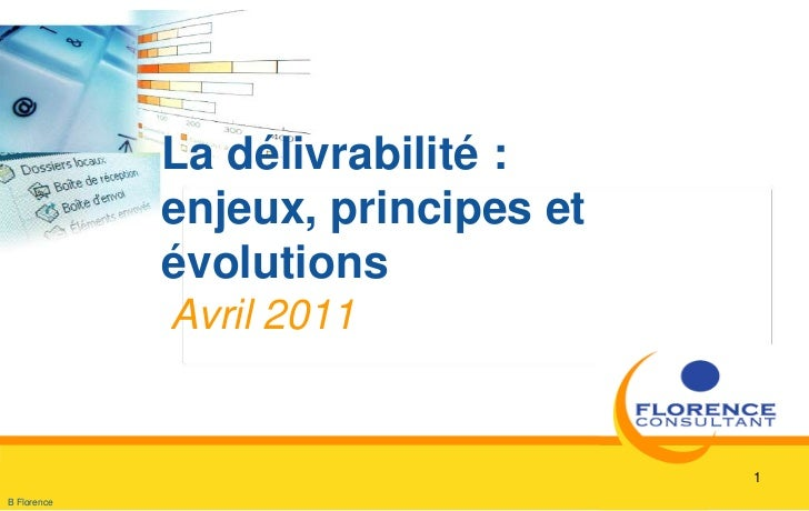 1<br />La délivrabilité : enjeux, principes et évolutions<br />Avril 2011<br />