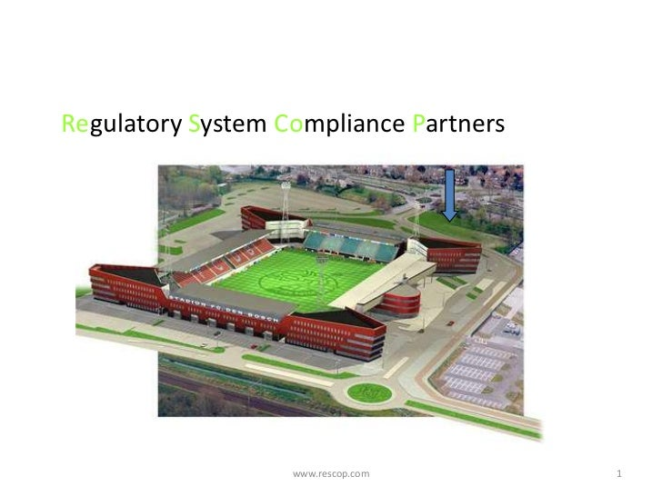 Presentation compliance software events and internet en