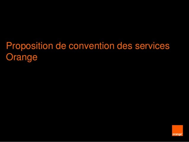 Presentation convention mobile orange