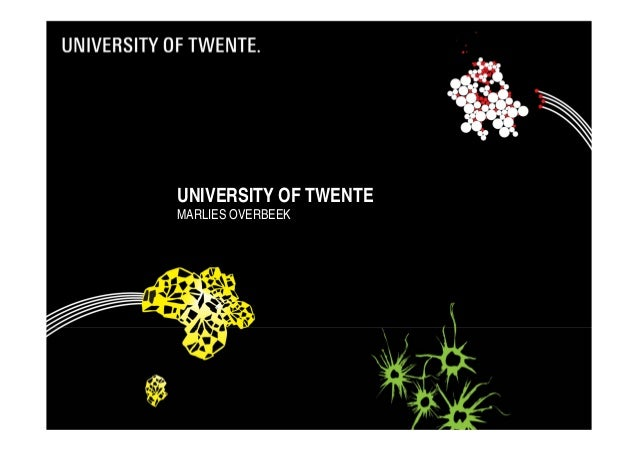 University of Twente - Presentation to Indonesian students - January 2014