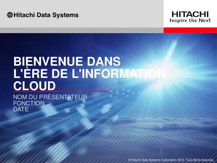 Presentation corporate hitachi data systems 2012