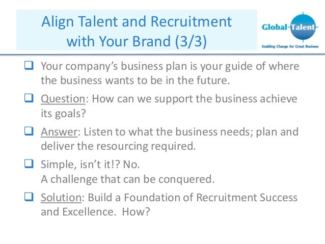 Recruitment company business plan