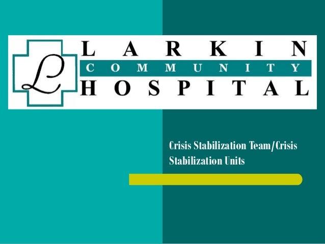 Crisis Stabilization Team/Crisis Stabilization Units