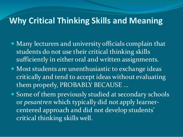 Critical thinking - Deakin University