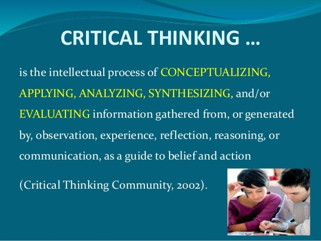 promoting critical thinking in the classroom At education malissa martin, edd, atc, cscs, column editor promoting critical thinking in the classroom stacy walker, phd methods to promote the analysis.