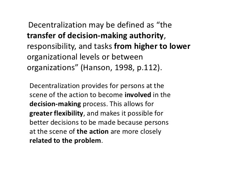 why did ford change from decentralization to centralization to recentralization Search results for 'why did unilever s decentralized organizational structure make sense from the 1950s through the 1970s' anna olczyk part 3: problem : to choose between centralization and decentralization authority when you think about.