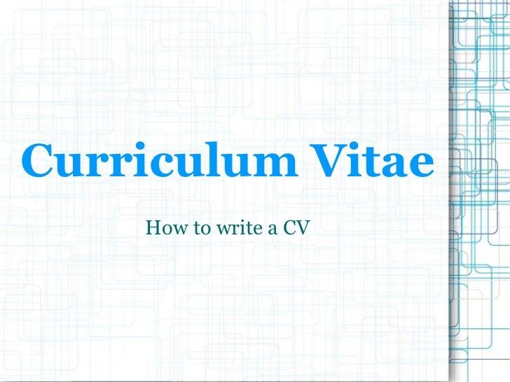curriculum vitae  curriculum vitae examples ppt