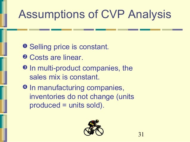 cvp assumption Following on from the previous assumption, cvp analysis only applies where one product is.
