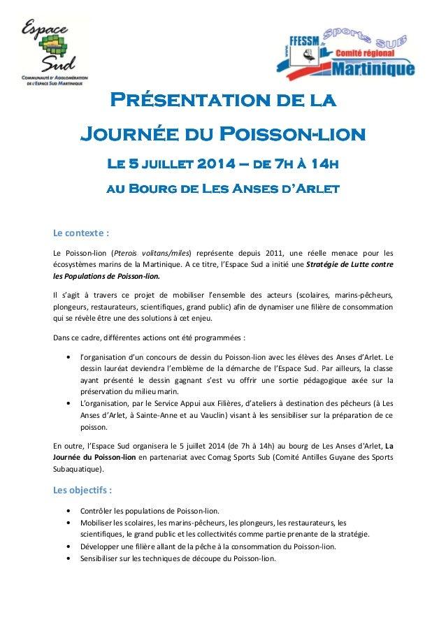 Présentation de laPrésentation de laPrésentation de laPrésentation de la Journée du PoissonJournée du PoissonJournée du Po...