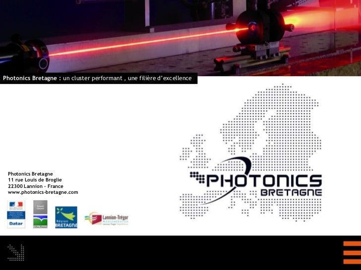 Presentation de photonics bretagne le 16 12-11