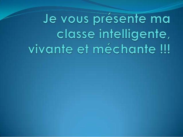 Bienvenue mes étudiants!!