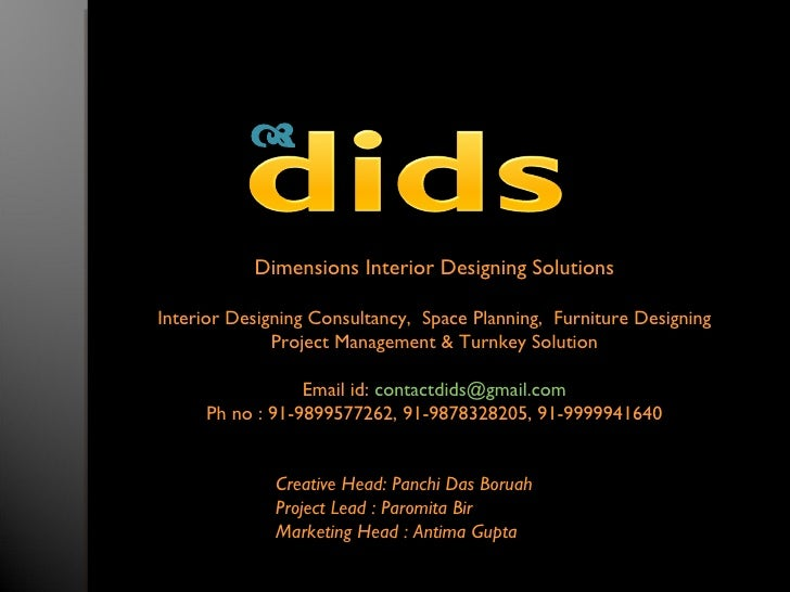              Dimensions Interior Designing Solutions  Interior Designing Consultancy, Space Planning, Furniture Designing...