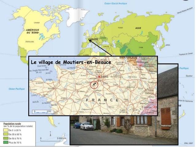 Le village de Moutiers-en-Beauce Le village de Moutiers-en-Beauce