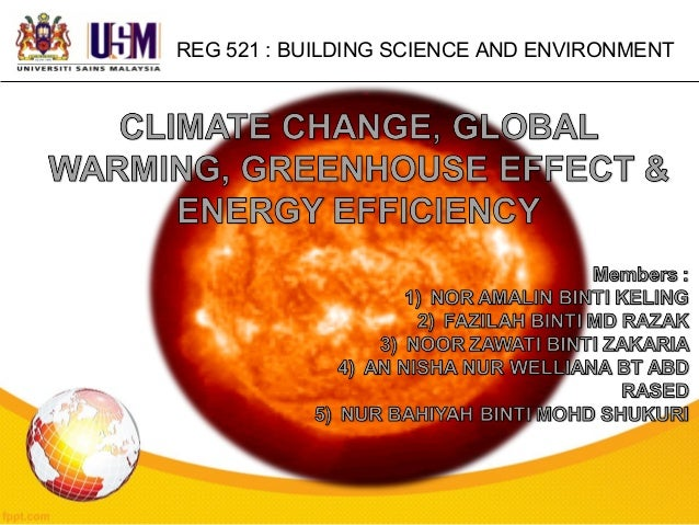 REG 521 : BUILDING SCIENCE AND ENVIRONMENT