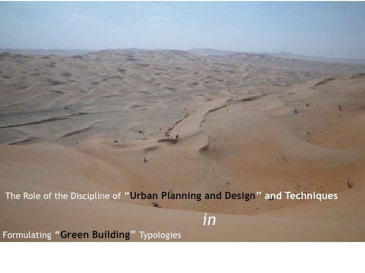 """The Role of the Discipline of """"Urban Planning and Design"""" and Techniques                                          inFormul..."""