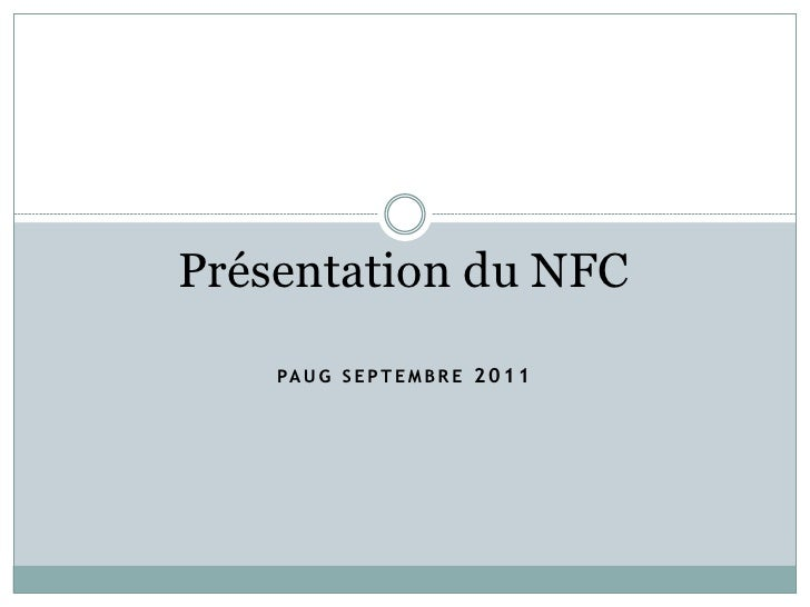 Code Demo NFC on Android - Olivier Gonthier - PAUG