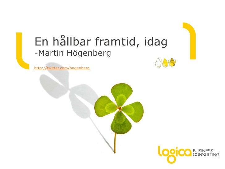 Presentation dynamics sustainability martin högenberg