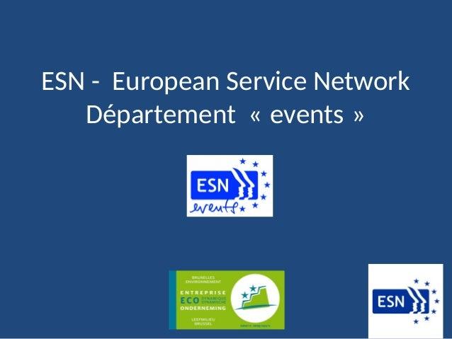 ESN - European Service Network Département « events »