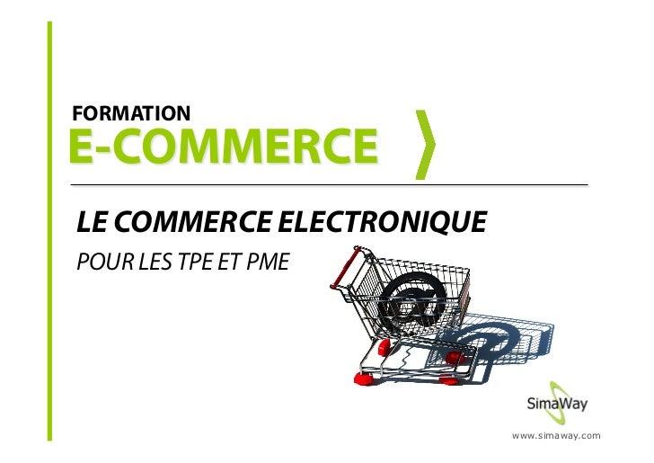 Formation commerce électronique - E-commerce pour les PME