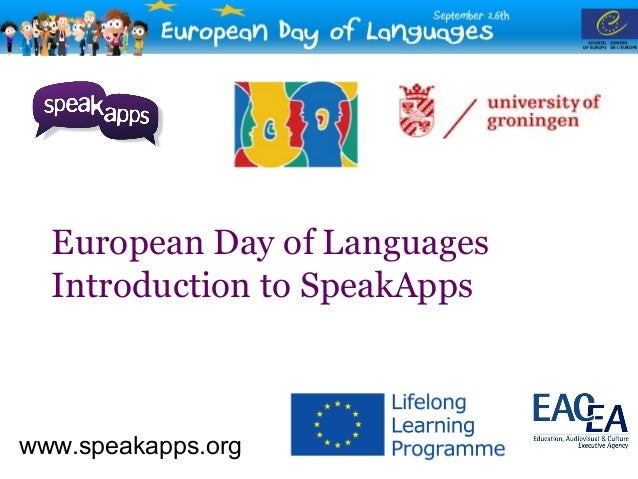 SpeakApps celebration of the EDL'12 at RUG